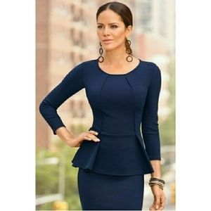 Boston Proper Travel Peplum Top